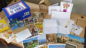 Cheshire home opens letters from pen pals club