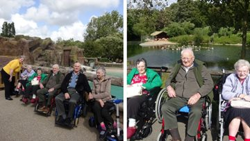 Barnard Castle care home embarks on animalistic adventure at Blackpool Zoo