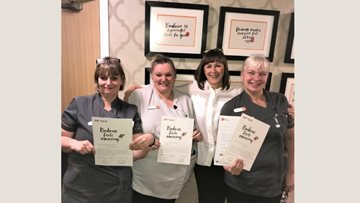 Mansfield care home staff receive award for kind care