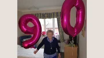 90th birthday celebrations at Hartlepool care home