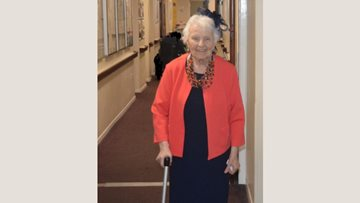 Stirling care home Resident attends grandsons wedding