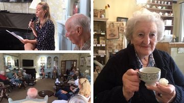 Week of excitement at Thamesfield care home