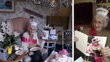 Grimsby care home Resident celebrates big 100th birthday