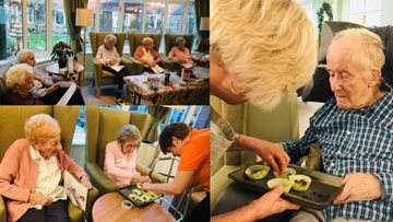 Residents cook up a Christmas treat at Brompton House