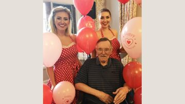 Leeming Garth enjoys a special Valentine's Day