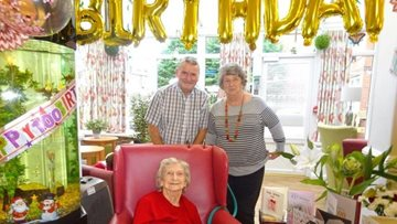 Great-great grandmother celebrates 100th birthday at Rochdale care home
