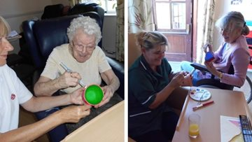 Residents join craft club at Coppice Court