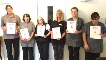 Local Care Home recognises staff with long service awards totaling 80 years