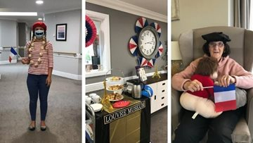 North Shields care home celebrate Bastille Day