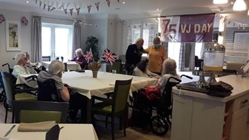 VJ Day celebrations at Newton Aycliffe care home