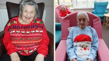 Christmas jumper day spreads festive cheer at Leeds care home