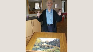 Puzzle master at Congleton care home