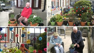 Residents create blooming marvellous sensory garden