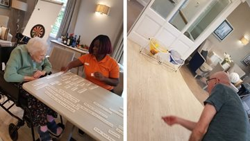 Games afternoon at Newlands care home