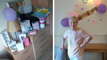 Dukinfield care home Resident celebrates 84th birthday