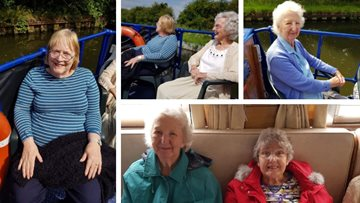 All aboard! Doncaster care home Residents enjoy summer sail on Ethel Barge trip