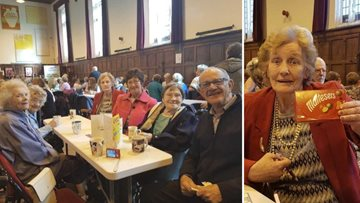 Residents enjoy the king of rock and roll