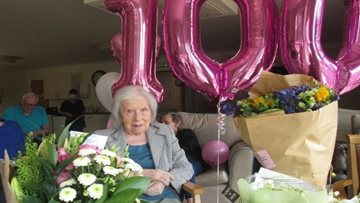 100th birthday celebrations at Dundee care home