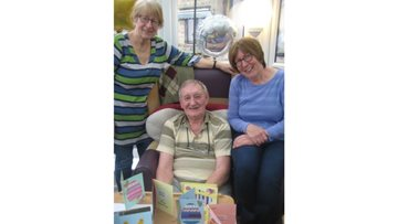 Easter arts and crafts session for Residents at Belper care home