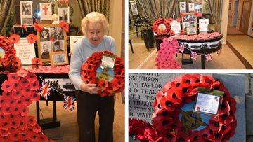 Garforth care home Residents pay respects for Remembrance Day