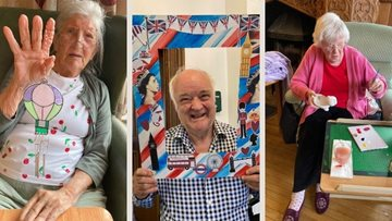 Woking care home Residents get creative in April