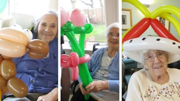 Chippenham care home hosts balloon party