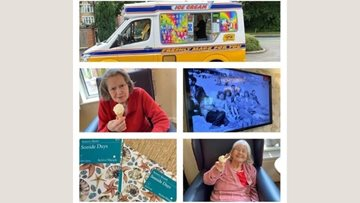 Coventry care home has a visit from the ice cream van