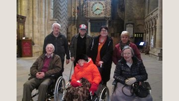 Ashington care home Residents visit Durham Cathedral
