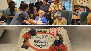 Resident turns 103 years young at Leeds care home