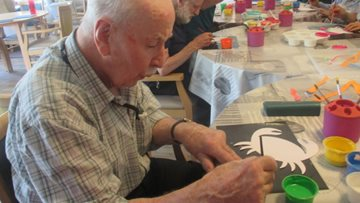 Residents explore their creative side at Perth care home