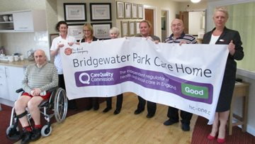 Bridgewater Park achieve Good Outcomes from CQC