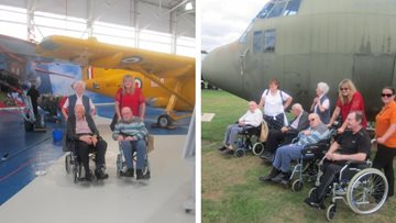 Dudley care home Residents visit RAF Museum