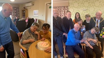 Diamond wedding anniversary at Arbroath care home