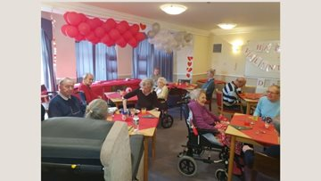 Love is in the air for London care home Residents