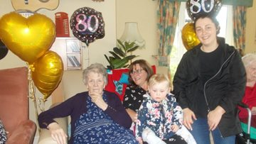 80th birthday celebrations at Consett care home