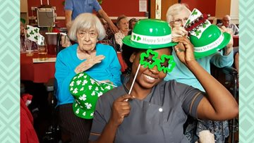 Pendleton Court enjoy St Patrick's Day
