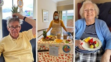 Fruity fun for World Health Day at Newcastle care home
