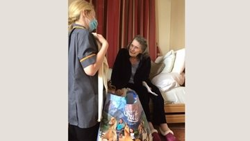 Resident receives special gift at Lancashire care home