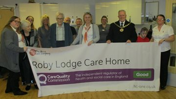 Roby Lodge Care Home Welcomes Mayor to Celebrate CQC Rating Success