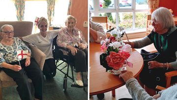 Residents have a blooming good time at North Shields care home