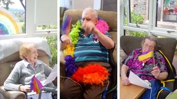 Duffield care home enjoy a sing-a-long