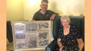 Talented Care Home Resident shows off Works of Art