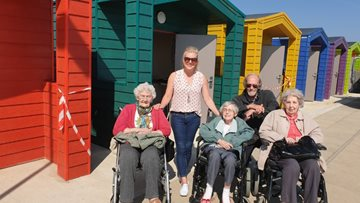 Sun, sea and sand at Seaton Carew for Ferryhill care home Residents