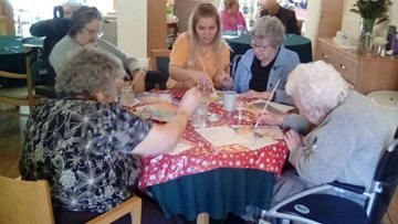 Residents show off their inner artists at Beeston care home