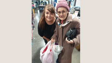 Festive preparations for Burntwood care home Resident