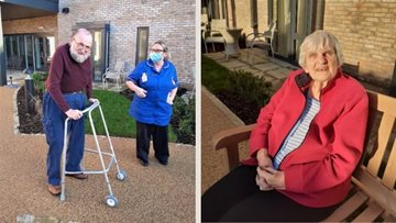 Residents welcome the sunshine at York care home