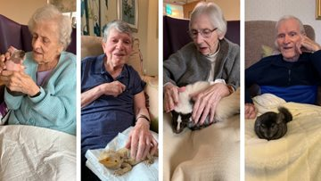 Furry friends at Wigan care home