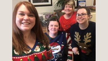 Festive fancy dress at Cwrt-Clwydi-Gwyn for Christmas Jumper Day