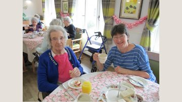 Mothers Day celebrations at Milton Keynes care home