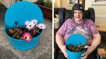 Green-fingered Arbroath care home Residents plant donated flowers